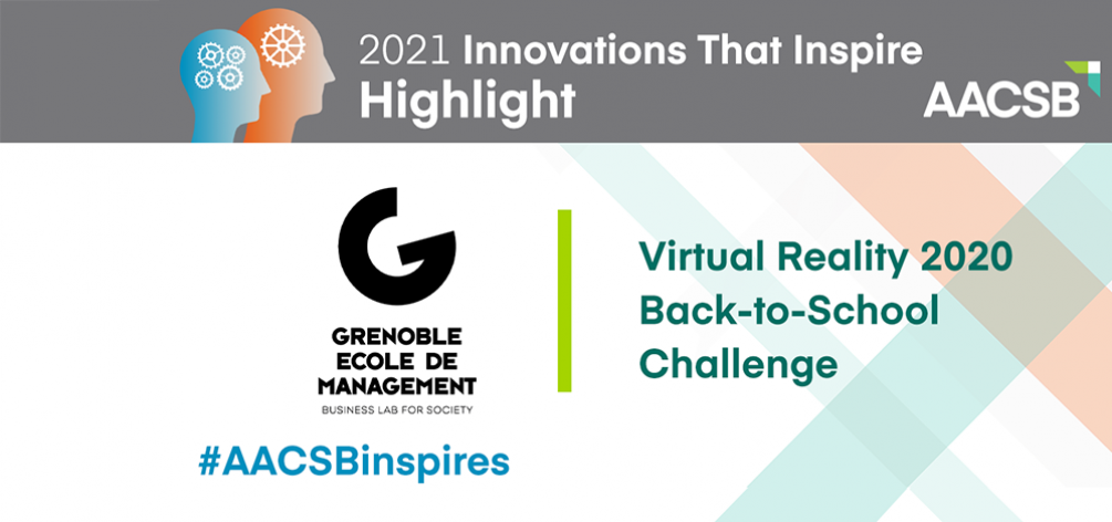 Grenoble Ecole de Management rewarded in the 2021 AACSB Innovations That Inspire Challenge